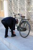 retro cykel Arkivfoto