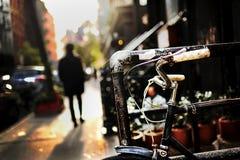 Retro cykel i NYC Arkivfoto