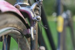 Retro cykelavbrott Arkivbild