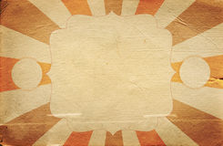 Retro cyrka stylu plakatowy szablon na rhombus tle z ri Obraz Royalty Free