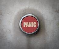 Retro Czerwony Przemysłowy panika guzik Obraz Stock