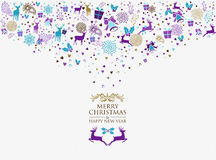 Retro d'annata del buon anno 2016 di Buon Natale Immagini Stock Libere da Diritti