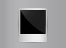 Retro 3d blank photo frame isolated on grey Stock Image