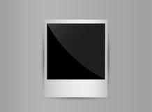 Retro 3d blank photo frame isolated on grey. Background. Vector illustration EPS10 Stock Image