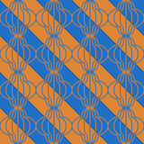Retro 3D blue and orange diagonal striped bulbs Royalty Free Stock Image