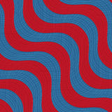 Retro 3D blue red waves with texture Royalty Free Stock Photography