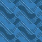 Retro 3D blue waves with dark blue parts Royalty Free Stock Photography