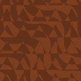 Retro 3D brown waves with cut out triangles Stock Photography