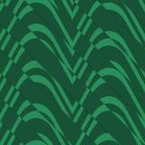 Retro 3D bulging green waves diagonally cut Stock Photos