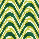 Retro 3D bulging light green waves diagonally cut Royalty Free Stock Photography