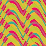 Retro 3D bulging waves diagonally cut Stock Images