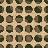 Retro 3D circles and green waves under Stock Photos