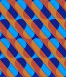 Retro 3D diagonal cut blue and orange waves Royalty Free Stock Image
