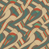 Retro 3D diagonal stripes crossing with waves under Stock Image