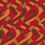 Retro 3D diagonal stripes with red yellow green Royalty Free Stock Photos