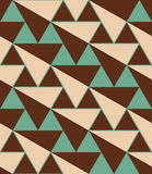 Retro 3D green and brown diagonal triangles Stock Photos