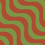 Retro 3D green and brown diagonal waves with texture Stock Image