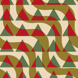 Retro 3D green and brown diagonal waves with texture Stock Photo
