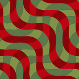 Retro 3D green and brown diagonal waves with texture Stock Photos