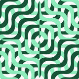 Retro 3D green wavy squares Royalty Free Stock Photography