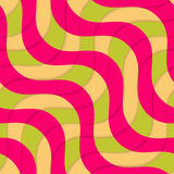 Retro 3D magenta green overlapping waves Stock Photos