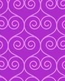 Retro 3D purple swirly hearts Stock Photography