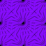 Retro 3D purple waves and rays Stock Image