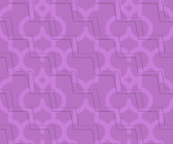 Retro 3D purple zigzag cut Marrakech Royalty Free Stock Photography