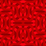 Retro 3D red overlapping waves Royalty Free Stock Photography