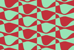 Retro- 3D rotes und grünes gewelltes Stockbild