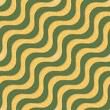 Retro 3D yellow green waves and rays Stock Photo