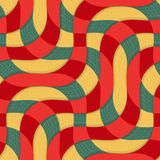 Retro 3D yellow red overlapping waves with texture Stock Images