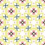 Retro Daisy Floral Vector Pattern Hand disegnata, fiore d'annata senza cuciture di stile illustrazione vettoriale