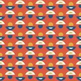 Retro Daisy Floral Vector Pattern Orange e blu royalty illustrazione gratis