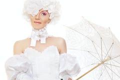 Retro damebruid, magisch Halloween Carnaval kostuum royalty-vrije stock foto's