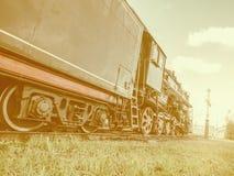 Retro- Dampflokomotive Lizenzfreie Stockfotos