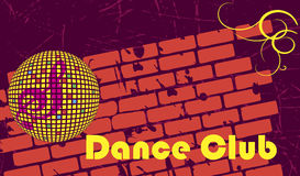 Retro dance club.Dance party. Vector illustration royalty free illustration