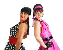 Retro dancers, 80's Royalty Free Stock Photography