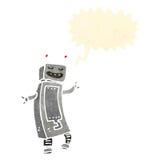 retro dancing robot cartoon Stock Photo
