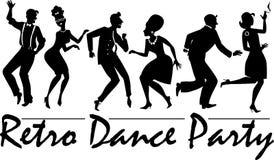 Retro danspartij Stock Afbeeldingen