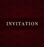 Retro dark invitation card Royalty Free Stock Images