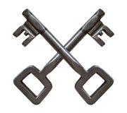 Retro das chaves cruzado imagens de stock royalty free