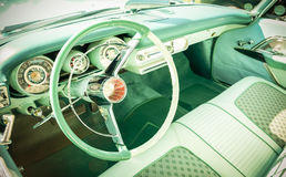 Retro dashboard Stock Photo