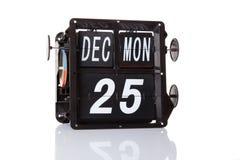 Retro data del calendario meccanico isolata Immagini Stock Libere da Diritti