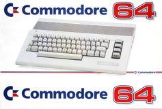 Retro datorkommendör 64 Arkivbilder