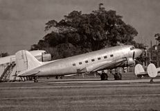 Retro DC-3 airplane Stock Photography