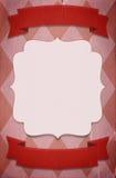 Retro de affichemalplaatje van de circusstijl op ruitachtergrond met ri Stock Afbeeldingen
