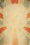 Retro de affichemalplaatje van de circusstijl op ruitachtergrond met ri Stock Fotografie