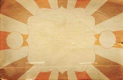 Retro de affichemalplaatje van de circusstijl op ruitachtergrond met ri Royalty-vrije Stock Afbeelding