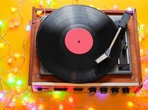 Retro de jaren '80 vinylspeler royalty-vrije stock foto's